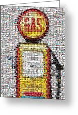 The Pump Mosaic Greeting Card