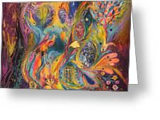 The Purple Rain Greeting Card by Elena Kotliarker