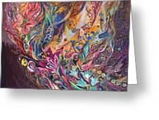 The Purple Stream Greeting Card