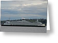 The Puyallup Ferry In Seattle Greeting Card