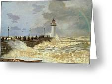 The Quay At Le Havre Greeting Card