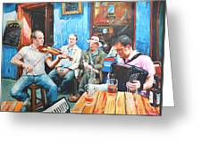 The Quay Players Greeting Card by Conor McGuire