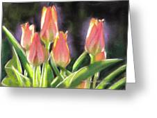 The Queen's Tulips Greeting Card