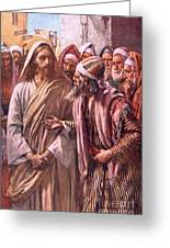 The Question Of The Sadducees Greeting Card