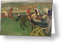 The Race Course Greeting Card by Edgar Degas