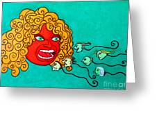 The Spermatozoes Race. Greeting Card
