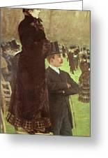 The Races At Auteuil Greeting Card by Joseph de Nittis