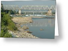 The Railway Bridge Greeting Card