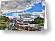 The Rainbow Bridge - Laconner Washington Greeting Card