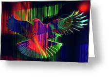 The Rainbow Dove  Greeting Card