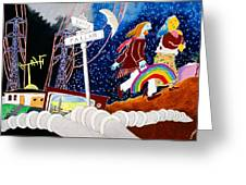 The Rainbow Family Moved Away Greeting Card