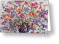 The Rainbow Flowers Greeting Card