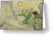 The Raising Of Lazarus After Rembrandt Saint Remy De Provence  May 1890 Vincent Van Gogh 1853  Greeting Card