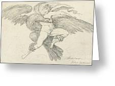 The Rape Of Ganymede Greeting Card