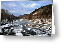 The Rapids In Winter Greeting Card