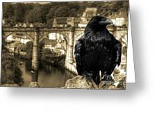 The Raven Of Knareborough Castle Greeting Card