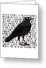 The Raven Poem Art Print Greeting Card