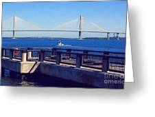 The Ravenel Bridge Greeting Card