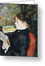 The Reader Greeting Card by Pierre Auguste Renoir