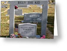 The Real Billy The Kid Greeting Card