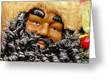 The Real Black Santa Greeting Card by Christine Till