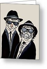 The Real Blues Brothers Greeting Card
