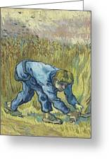 The Reaper After Millet Greeting Card