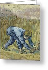 The Reaper After Millet Saint Remy De Provence, September 1889 Vincent Van Gogh 1853  1890 Greeting Card
