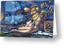 The Rebirth Of Venus Greeting Card