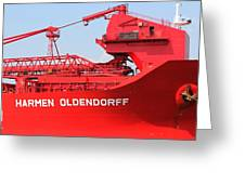 The Red Barge Greeting Card