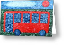 The Red Bus Greeting Card