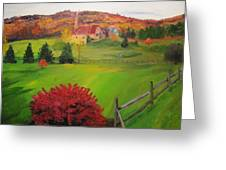 The Red Bush Greeting Card