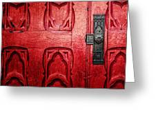 The Red Church Door Greeting Card
