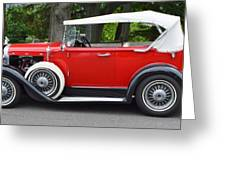 The Red Convertible Greeting Card