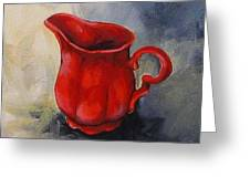 The Red Creamer  Greeting Card