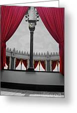 The Red Curtain Greeting Card