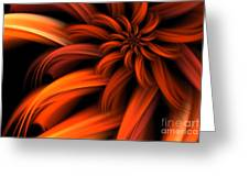 The Red Dahlia Greeting Card