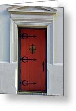 The Red Door Greeting Card