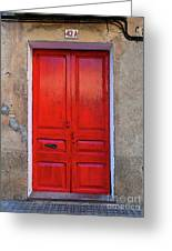 The Red Door. Greeting Card