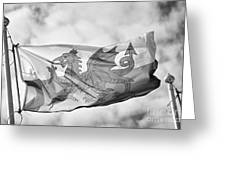 The Red Dragon National Flag Of Wales Greeting Card