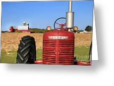 The Red Farmall Greeting Card