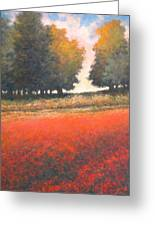 The Red Field #2 Greeting Card