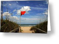 The Red Flag Greeting Card