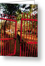 The Red Gate Greeting Card