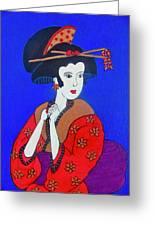 The Red Geisha Greeting Card