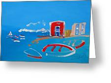 The Red House  La Casa Roja Greeting Card