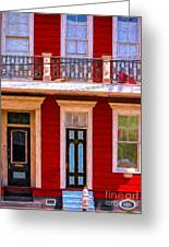 The Red House-nola-faubourg Marigny Greeting Card