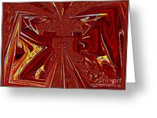 The Red Palace In Abstract Greeting Card
