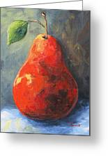 The Red Pear II  Greeting Card