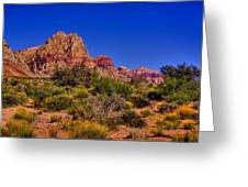 The Red Rock Canyon At Bonnie Springs Ranch Greeting Card